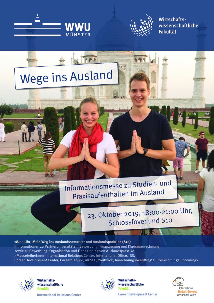 "Aiesec Münster fair ""wege ins ausland""   university of muenster school of"